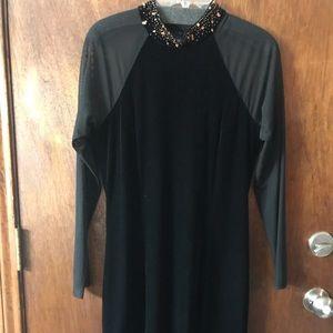 Black Velvet Party Dress
